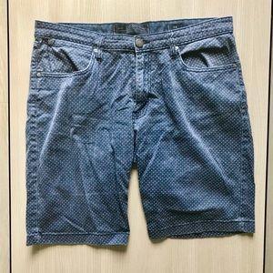 Paper Denim & Cloth Brand Patterned Navy Shorts